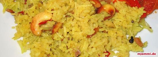 Kαρυκευμένο ρύζι ινδικού τύπου (Masala Bhat)