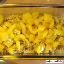Fussili με κίτρινη πιπεριά