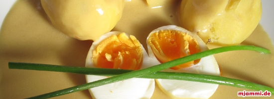 Αυγά με σάλτσα μουστάρδας