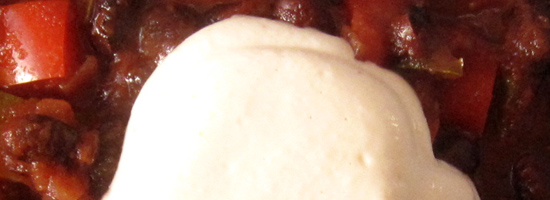 Saure Cashew-Sahne