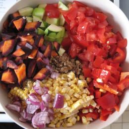 Alle Zutaten für das Gemüse kleinschneiden.